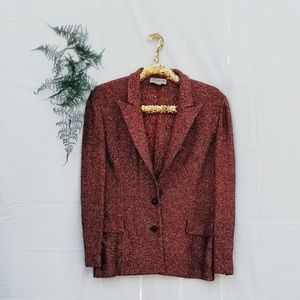 tiffany knit collection Jackets & Coats - Knitted multi color blazer orange gold black color